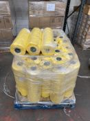 1 x pallet of Polythene thick bags - rolls of 300 bags, 620x920- 28 x yellow rolls
