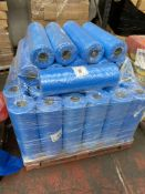1 x pallet of Polythene thick bags - rolls of 300 bags, 620x920- 40 x blue