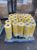 1 x pallet of Polythene thick bags - rolls of 300 bags, 620x920- 20 x yellow rolls