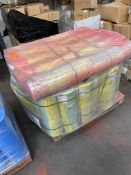 1 x pallet of Polythene thick bags - rolls of 300 bags, 620x920- 40 x yellow