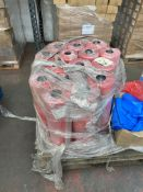 1 x pallet of Polythene thick bags - rolls of 300 bags, 620x920- 15 x red