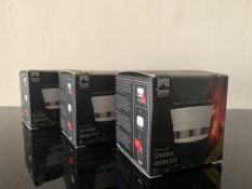4 X BRAND NEW HOME WIZARD CONNECTED SMOKE DETECTORS