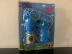 24 X BRAND NEW BOXED PEPPA PIG BUBBLE BLASTERS