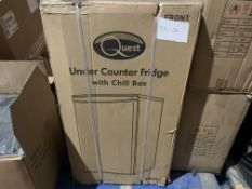 BRAND NEW QUEST UNDER COUNTER FRIDGE WITH CHILL BOX