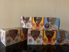 12 X BRAND NEW SWIZZLES 3 JAR CANDLE SETS INCLUDING LOVE HEARTS, DRUMSTICK AND RAINBOW DROPS