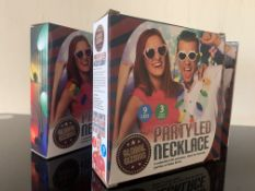 24 X BRAND NEW BOXED GLOBAL GIZMOS PARTY LED NECKLACES