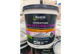 PALLET TO CONTAIN 45 x NEW 10KG BOSTIK CEMENTONE RAPID SETTING CEMENT. FOR INSTALLATION, REPAIR &