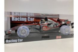 PALLET TO CONTAIN 72 X BRAND NEW ULTRASONIC SOUND AND LIGHT UP RACING CARS RRP £19.99 ( EACH CAR )