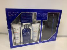 6 X BRAND NEW BAYLISS AND HARDING THE ULTIMATE MENS CITRUS LIME AND MINT GIFT SETS WITH TRAVEL BAGS