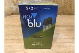 60 x New Sealed MyBlu Liquidpods Menthol 2 Pack 18MG Pod System - Vape