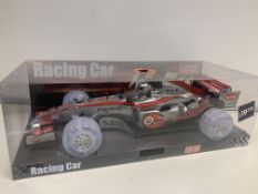 4 X BRAND NEW ULTRASONIC SOUND AND LIGHT UP RACING CARS IN 2 BOXES RRP £19.99 ( EACH CAR )