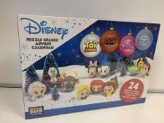 8 X BRAND NEW DISNEY PUZZLE PALZ ERASER ADVENT CALENDARS INCLUDING TOY STORY, MICKY MOUSE, DISNEY