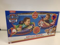 16 X BRAND NEW BOXED PAW PATROL SPLASH AND BLAST BATTLE BOATS IN 4 BOXES