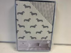 4 X BRAND NEW EMILY BOND GREY COLOURED KING SIZE DUVET SET WITH DACHSHUND DETAIL