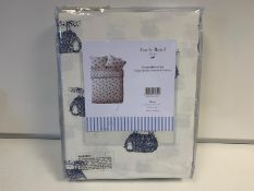 1 X DOUBLE & 2 X SUPER KING BRAND NEW EMILY BOND BLUE COLOURED FLANNEL DUVET SETS WITH SHEEP DETAIL
