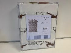 6 X BRAND NEW EMILY BOND DUVET SETS IN SIZES KING / SUPER KING / DOUBLE WITH RABBIT AND HARE DETAIL