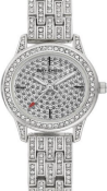 JUICY COUTURE SILVER COLOURED LADIES WRIST WATCH WITH WHITE COLOURED STONES RRP £195.00