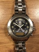 BREITLING 1884 WRIST WATCH WITH STAINLESS STEEL STRAP SERIAL NUMBER A51035 2548