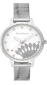 JUICY COUTURE SILVER COLOURED LADIES WRIST WATCH RRP £139.00