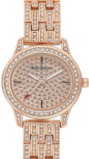 JUICY COUTURE ROSE GOLD COLOURED LADIES WRIST WATCH WITH WHITE COLOURED STONES RRP £195.00