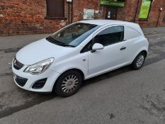 FV61 UNZ VAUXHALL CORSA VAN - FIRST REGISTERED: 9 November 2011. MOT UNTIL: 20/03/2021