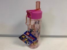 72 x BRAND NEW PACKAGED LEGO MOVIE WATER BOTTLE WITH STRAW
