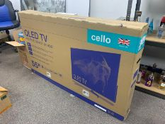 """BRAND NEW 55"""" CELLO QLED TV ANDROID SMART 4K HDR"""