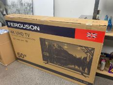 "BRAND NEW 50"" FERGUSON 4K ULTRA HD LED TV WITH T2 HD"