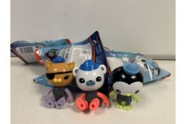 PALLET TO CONTAIN 360 x BRAND NEW SEALED ASSORTED OCTONAUTS FIGURES. RRP £9.99 EACH