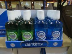 1 x PALLET OF BRANDED MOUTHWASH. 72 BOXES OF 16 UNITS. 2 DIFFERENT FLAVOURS. 1,152 UNITS IN TOTAL