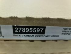 (A8) PALLET TO CONTAIN 54 x NEW HIGH GLOSS CREAM DOOR PACKS 300MM