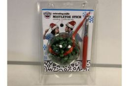 PALLET TO CONTAIN 300 x BRAND NEW BIGMOUTH INC EXTENDING SELFIE MISTLETOE STICK - EXTENDS UP TO 30