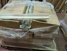 (A12) PALLET TO CONTAIN 250 x NEW HIGH GLOSS CREAM BASE CORNER POSTS
