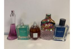 5 X VARIOUS BOTTLES OF PERFUME 50-100% FULL