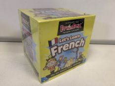 10 X BRAND NEW BRAINBOX LETS LEARN FRENCH LEARNING GAMES