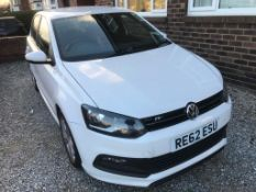 RE62ESU 2012 Volkswagen Polo R Line 1.2TSI Petrol. 81,095 miles. First Registered 15 October 2012