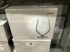 2 X SETS OF 2 JOHN LEWIS 700L CONNOISSEUR FOR BEER GLASSES