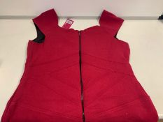25 X PRETTY POLLY RED TUNIC DRESSES SIZE 12