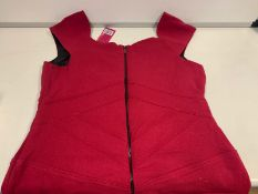 25 X PRETTY POLLY RED TUNIC DRESSES SIZE 10