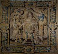 """""""Coronación del Rey Luis XIV"""". Tapiz de la manufactura de los Gobelinos en lana.""""Coronación d"""