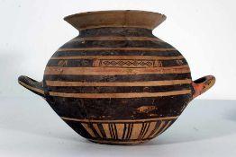 Recipiente en terracota esmaltada. Italia, siglo XV.Recipiente en terracota esmaltada. Italia,