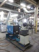 Miller 6-axis robot inoculating a Delta weld CV.DC power welding source.