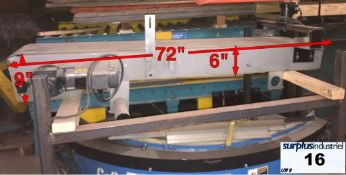 """Small Conveyor 72 """"x 16"""" 230 / 460V 3 Phases"""