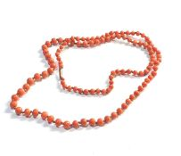 9ct gold clasp coral bead necklace