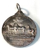 Large 1930 silver horse breeding society medal