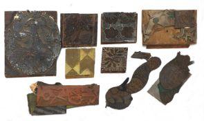 Various printing blocks