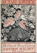 Exhibition poster for Richard Bawden at the Church Street Gallery, Saffron Walden