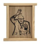 Jigsaw silhouette wooden carving