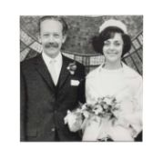 Captain Tom at his wedding photographic print