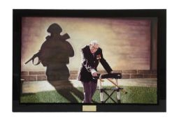Captain Tom with soldier shadow oil on canvas